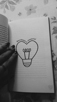 Ideas For Bulb Lighting Wallpaper Pencil Art Drawings, Kawaii Drawings, Love Drawings, Easy Drawings, Art Sketches, Sharpie Drawings, Drawing Quotes, Drawing Ideas, Doodle Art