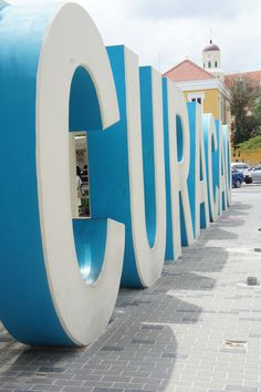 Curacao sign - letters