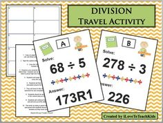This is a great activity to assess your students' knowledge of division skills.  Problems include dividends of 2 or 3 digits and 1 digit divisors.  Quotients have remainders.  This is a great formative assessment for assessing division that is simple to diagnose weaknesses with.
