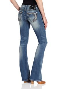 Miss Me Juniors Embellished Fleur De Lis And Distressed Boot Cut - $99.00