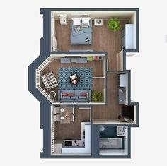 52 Ideas apartment layout sims for 2019 Sims 4 House Plans, Sims 4 House Building, Small House Plans, House Floor Plans, Sims 4 House Design, Tiny House Design, Modern House Design, Sims 4 Houses Layout, House Layouts