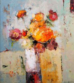 Por amor al arte: Julia Klimova Flower Painting Canvas, Canvas Art, Art Floral, Still Life Art, Abstract Flowers, Oeuvre D'art, Painting Inspiration, Lovers Art, Art Photography