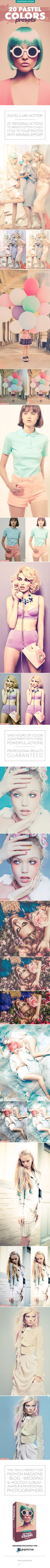 20 Pastel Colors Presets  Photoshop Action — Photoshop ATN #trending #smooth • Available here → https://graphicriver.net/item/20-pastel-colors-presets-photoshop-action/12017470?ref=pxcr