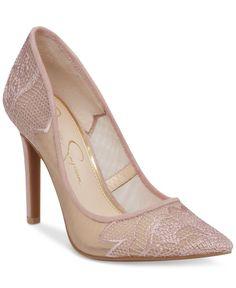 Jessica Simpson Camba Lace Pointed-Toe Pumps | macys.com