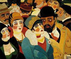 """Josef Scharl (German painter, 1896-1954)  """"Street Scene in Paris"""", 1930"""