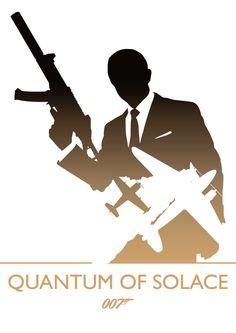 'Quantum of Solace' minimalist movie poster (artwork by Phil Beverley, via Behance)