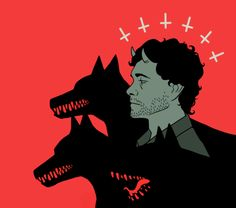 """weardes: """"How about Antichrist!Will with a pack of loyal hellhounds and a pair of cute little horns """" Hannibal Cast, Hannibal Tv Show, Hannibal Lecter, Will Graham, Cat Aesthetic, All I Ever Wanted, Kintsugi, Like Image, Japanese Art"""