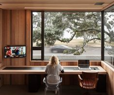 Evan Mayo of Architecture Bureau discusses making way for the new while still retaining enchanting elements of this once classic-Kiwi holiday home. Home Office Space, Home Office Design, Home Office Decor, Home Interior Design, Interior Architecture, House Design, Classical Architecture, Office With A View, Inside Home