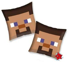 Bed Pillows Minecraft NEW Bedding Steve brown color in Home & Garden | eBay