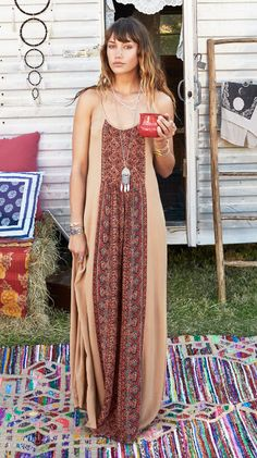 Panel Print Maxi Dress. #earthboundtrading