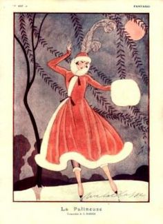 Vintage Christmas Fantasio, George Barbier 1916 (88 pieces)