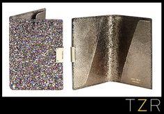 Jimmy Choo Glitter Fabric Passport Cover, $295.