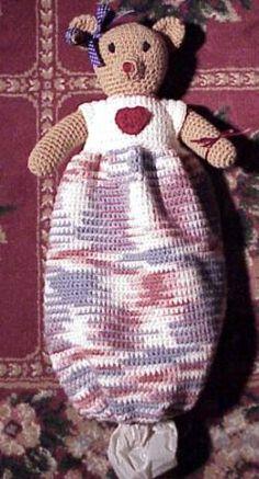 Free Knitting Pattern Grocery Bag Holder : Free Pattern for Crochet Plastic Grocery Bag Holder by ...