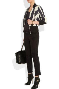Vivienne Westwood Anglomania|Printed bomber jacket|NET-A-PORTER.COM