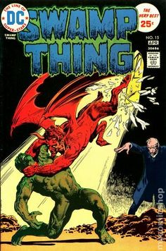 """Swamp Thing vol.1 # 15, """"The Soul-Spell of Father Bliss"""" (April, 1975). Cover by Nestor Redondo."""