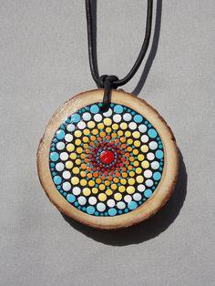 La montaña Mandala collar envío gratis rodaja de madera