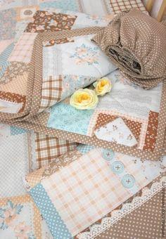 Купить Комплект в кроватку для малыша. Пастельное. - бежевый, комплект для девочки, комплект для малыша, комплект на выписку