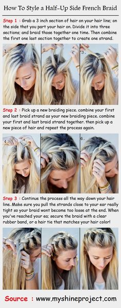 How To Style a Half-Up Side French Braid | PinTutorials