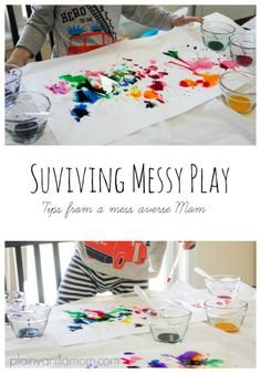A Mess Averse Mom's Guide to Surviving Messy Play - Plain Vanilla Mom