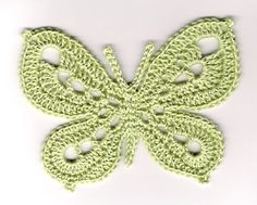 Free crochet pattern to make this sweet butterfly motif, lovely for use on edgings or for decorating clothes