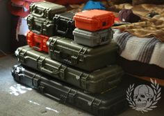 I want some Pelican cases. Tactical Wall, Tactical Gear, Airsoft Gear, Bug Out Gear, Pelican Case, Tac Gear, Tactical Equipment, Gun Cases, Gun Storage