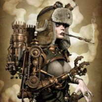 Steampunk its more than an aesthetic style, it's the longing for the past that never was. In Steampunk Girls we display professional pictures, and illustrations of Steampunk, Dieselpunk and other anachronistic 'punks. Some cosplay too! Moda Steampunk, Steampunk Couture, Steampunk Kunst, Steampunk Fashion, Steampunk Artwork, Steampunk Wallpaper, Steampunk Clothing, Steampunk Cosplay, Steampunk Makeup