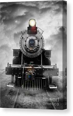 Steam Train Dream Art Print by Edward Fielding. All prints are professionally printed, packaged, and shipped within 3 - 4 business days. Standard Gauge, Bonde, Old Trains, Vintage Trains, Train Art, Train Pictures, Train Engines, Train Tracks, Train Rides