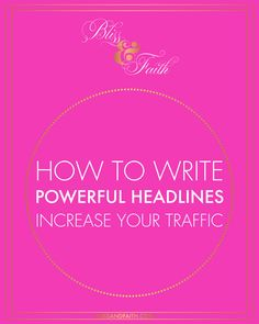 Creating powerful post headlines is critical to the success of your posts and establishing a strong readership for your site. In having compelling headlines + amazing and epic content, readers have no choice but to return to your site to see what's new each time your publish a post, and even when you don't.