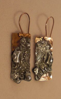 Stamped Solder Hammered and stamped soldered by EvergreenJewelry