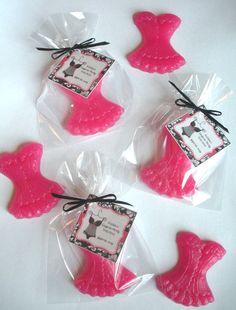 20 Corset Lingerie Shower Bridal Glycerin Soap Party Favors. $28.00, via Etsy.