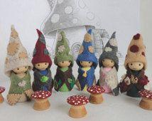 Waldorf Gnomes - nature table, Woodland folk, waldorf toy