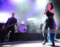 Amy Lee (R)B and Tim McCord of Evanescence perform at The Fox Theatre on October…