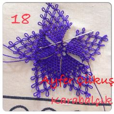 This Pin was discovered by nur Embroidery Needles, Embroidery Applique, Flower Structure, Tatting Patterns, Lace Making, Yarn Projects, Bobbin Lace, Lace Flowers, Bead Crochet