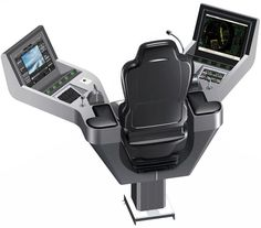 Ship seat / operator / with built-in pilot console / high-back - Commander XXL - Cleemann Chair-Systems