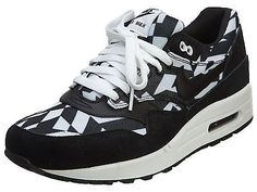 NIKE AIR MAX 1 GPX MENS 684174-100 Dazzle Black White Running Shoes Size 11.5