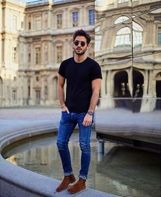 Super Casual Winter Outfit For Modern Men 32 - Herren Style Casual Winter Outfits, Men Casual, Casual Wear, Casual Male Outfits, Outfits For Men, Casual Styles, Dress Casual, Mode Man, Herren Style
