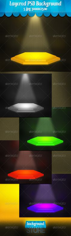 Empty Stage Platform  #GraphicRiver         Empty Stage Platform is Editable Layered psd file  Customizable Background 3000×2500px 300dpi + 5 jpg,  Easy to edit Colors  Perfect for product presentations, print and web.                      Created: 25 November 13                    Graphics Files Included:   Photoshop PSD #JPG Image                   High Resolution:   Yes                   Layered:   Yes                   Minimum Adobe CS Version:   CS5                   Pixel Dimensions…