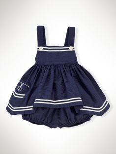 Nautical Seersucker Set - Infant Girls Sets - RalphLauren.com...OMG this is adorable!!!