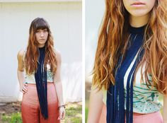 Fringe Necklace | Community Post: 29 Ways To Makeover A Boxy Men's T-Shirt