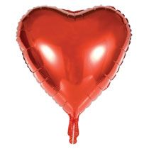 Red Heart-Shaped Foil Balloons