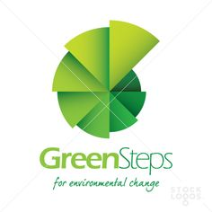 green logo  #Logo #GraphicDesign #Typography bit like a cross between a wheel, a pram and steps...