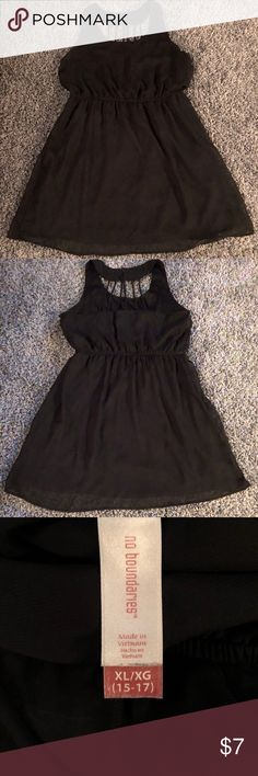 No Boundaries Black Dress with Cute Backing No Boundaries Black Dress With Cute Semi Open Backing  Size: Extra Large  Pre Loved But Still In Very Good Condition with Lots Of Life Left!   All Clothes Come From a Smoke Free Home & All Clothes Without a Tag will Be Washed Before Shipping :) No Boundaries Dresses Midi