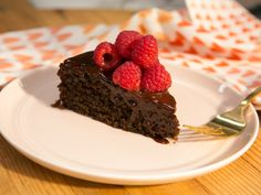 Flourless Chocolate Almond Cake recipe from Katie Lee via Food Network - uses quinoa, coconut milk, and coconut sugar.