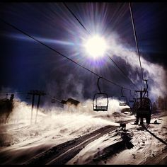 Nothing really gives me the most exciting feeling than getting on the first lift ride of the day. Not knowing quite what the conditions are going to be like when you get to the top. But knowing that you need to get over those conditions regardless so you can make it to the bottom. Nothing better than that unknown.