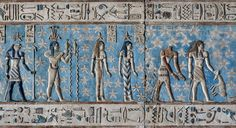 Zodiac sign Aquarius at Dendera, Egypt, astronomical ceiling in the outer hypostyle hall of the Hathor Temple at Dendera. ©MickPalarczyk