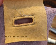 Unikuun terapiahuone: * Siisti nyörin aukko Sewing Hacks, Sewing Tips, Burlap, Reusable Tote Bags, Pocket, Hessian Fabric, Jute, Canvas