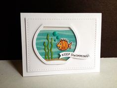 Adorable Keep Swimming card created by Lisa Adessa using Simon Says Stamp Exclusives.  August 2014
