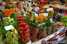 """Or Tor Kor Market in Bangkok - World's 4th Best Fresh Market: """" There is also a small food court selling delicious Thai food, including braised duck noodles, fried oyster pancakes, pad thai and various noodle soups, although at a slightly higher price than most other places."""""""