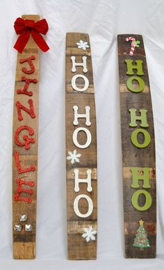 Barrel Stave Holiday Signs by WineyGuys on Etsy, $35.00