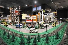 Loving the idea to build the lego railway around the edge